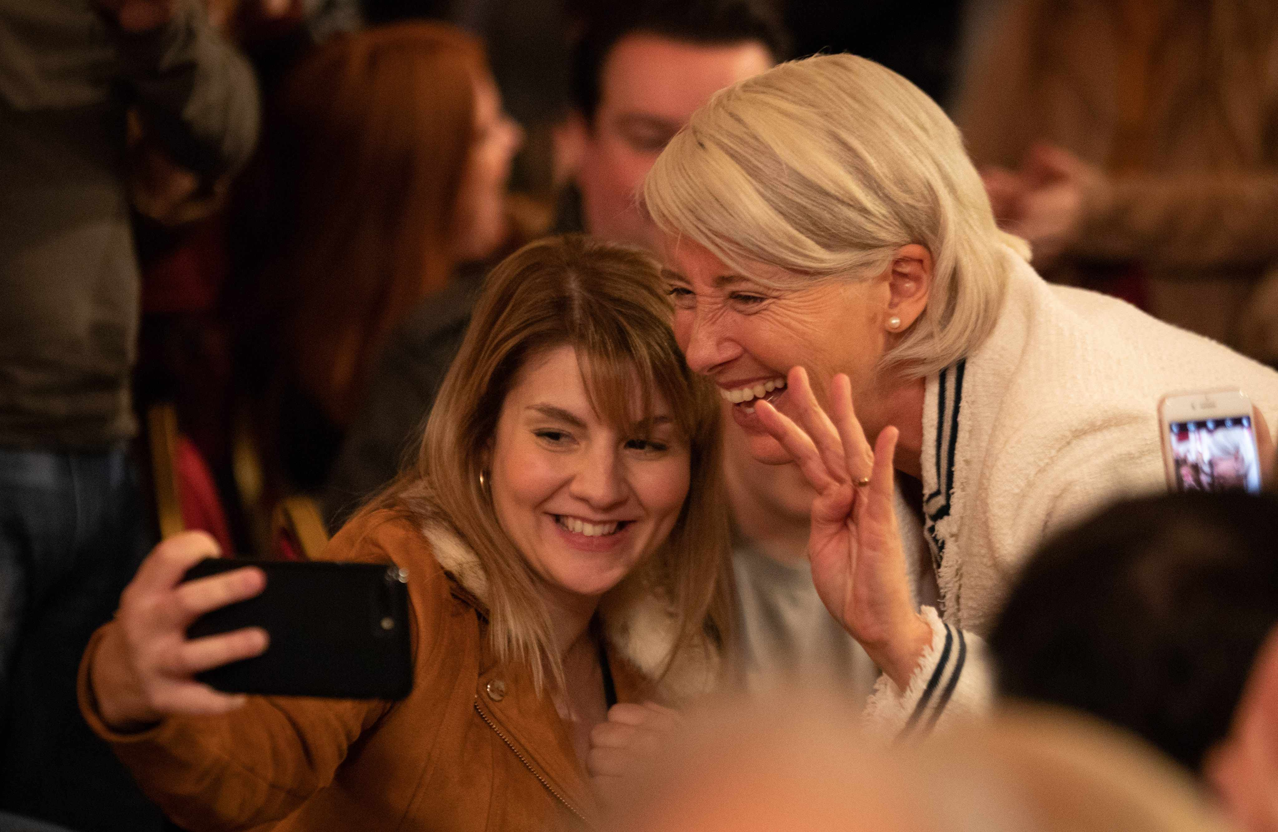 WARNING: Embargoed for publication until 00:00:01 on 14/05/2019 - Programme Name: Years and Years - TX: n/a - Episode: Years and Years episode 2 (No. n/a) - Picture Shows:  Rosie (RUTH MADELEY), Vivienne Rook (EMMA THOMPSON) - (C) Red Productions - Photographer: Guy Farrow