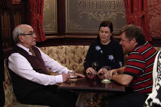 Mary Taylor (Pattie Clare), Norris Cole (Malcolm Hebden) and Brendan (Ted Robbins) (ITV)