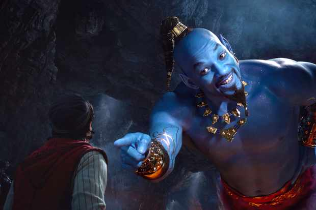 Mena Massoud and Will Smith in Disney's Aladdin, directed by Guy Ritchie.