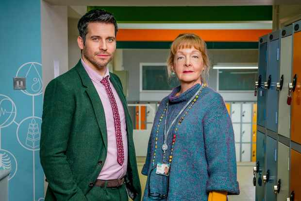 Deputy Head Martin Evershed (Robert James-Collier) and Director of behaviour Sue Carp (Charlie Hardwick)