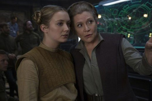 Billie Lourd and Carrie Fisher in Star Wars (LucasFilm)