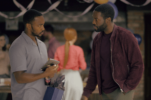 Anthony Mackie and Yahya Abdul-Mateen II in Black Mirror season five (Netflix)
