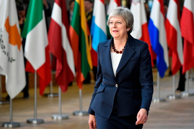 Theresa May at the European Council in Brussels (Getty)