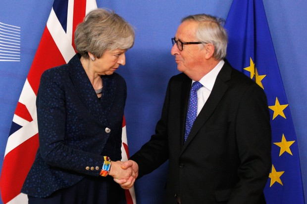 Theresa May and President of the European Commission Jean-Claude Juncker (Getty)
