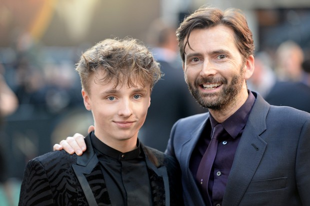 """LONDON, ENGLAND - APRIL 29: Ty Tennant and David Tennant attends the """"Tolkien"""" UK premiere at The Curzon Mayfair on April 29, 2019 in London, England. (Photo by Dave J Hogan/Getty Images)"""