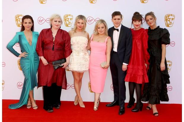 Derry Girls cast, BAFTA (Getty)