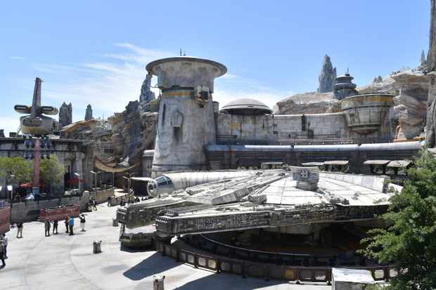 ANAHEIM, CALIFORNIA - MAY 29: Details of Star Wars: Galaxy's Edge media preview at The Disneyland Resort at Disneyland on May 29, 2019 in Anaheim, California. (Photo by Amy Sussman/Getty Images)