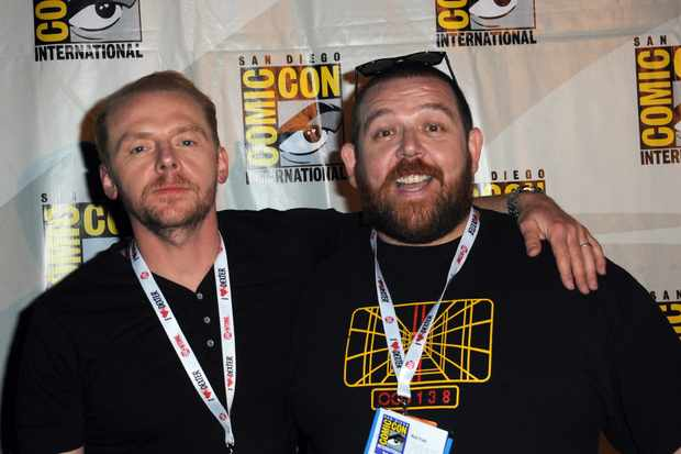 SAN DIEGO, CA - JULY 19:  Actors Simon Pegg and Nick Frost attend The World's End: Edgar Wright, Simon Pegg And Nick Frost Reunited panel as part of Comic-Con International 2013 held at San Diego Convention Center on Friday July 19, 2012 in San Diego, California.  (Photo by Albert L. Ortega/Getty Images)
