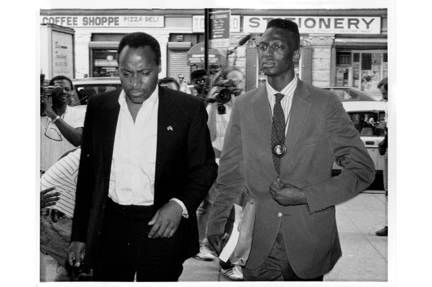 Yusef Salaam (right), accused in New York City Central Park Jogger incident. (Photo by Don Halasy/New York Post Archives /(c) NYP Holdings, Inc. via Getty Images)