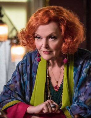 Miranda Richardson as Madame Tracy in Good Omens