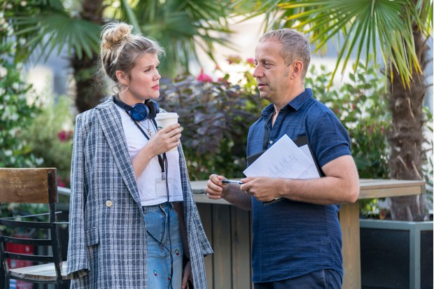 Killing Eve filming - Emerald Fennell