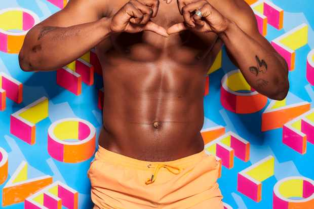 This image is strictly embargoed until 00.01 Tuesday 28th May 2019  From ITV Studios  Love Island: SR5 on ITV2  Pictured: Sharif Lanre.  This photograph is (C) ITV Plc and can only be reproduced for editorial purposes directly in connection with the programme or event mentioned above, or ITV plc. Once made available by ITV plc Picture Desk, this photograph can be reproduced once only up until the transmission [TX] date and no reproduction fee will be charged. Any subsequent usage may incur a fee. This photograph must not be manipulated [excluding basic cropping] in a manner which alters the visual appearance of the person photographed deemed detrimental or inappropriate by ITV plc Picture Desk.  This photograph must not be syndicated to any other company, publication or website, or permanently archived, without the express written permission of ITV Picture Desk. Full Terms and conditions are available on the website www.itv.com/presscentre/itvpictures/terms  For further information please contact: james.hilder@itv.com / 0207 157 3052