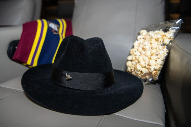 The iconic hat of author Terry Pratchett sits on a seat reserved form him at the World Premiere of Amazon Original series, Good Omens, ahead of its release this Friday