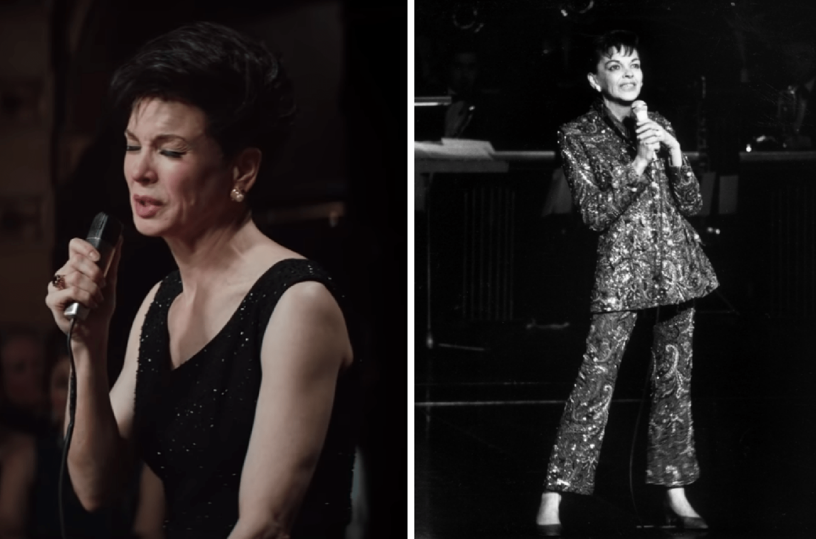 Renee Zellweger (L) and the real Judy Garland (R)