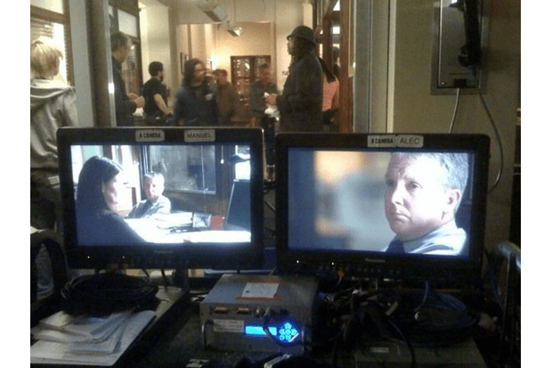 Tim Wilson on the set of Law & Order