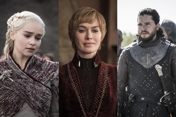 Emilia Clarke, Lena Headey and Kit Harington in Game of Thrones season 8 (HBO)
