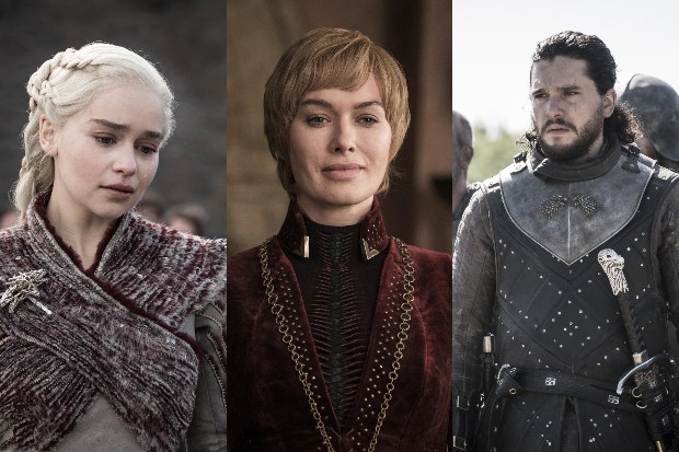 Emilia Clarke, Lena Headey and Kit Harington in Game of Thrones season 8 (HBO)