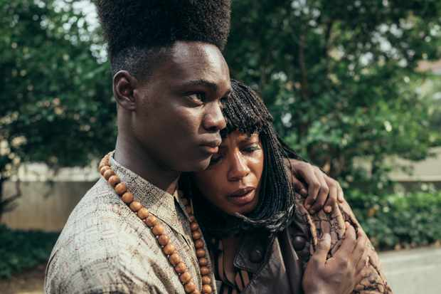 Ethan Herisse as Young Yusef Salaam, and Aunjanue Ellis as Sharonne Salaam
