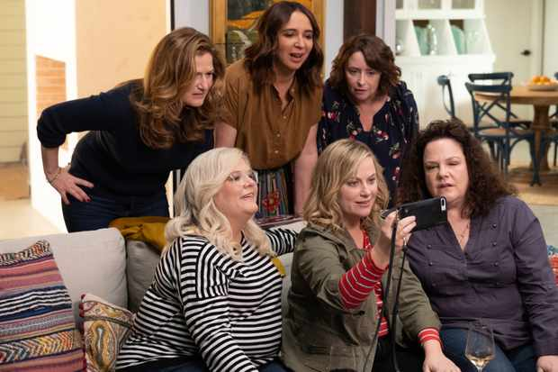 Amy Poehler (bottom centre) directs and stars