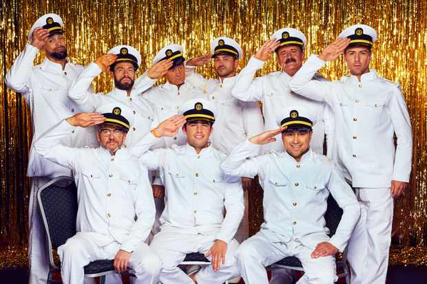 The All New Monty 2019 male celebrities: top row (L-R) Ashley Banjo, Kelvin Fletcher, Alexander Armstrong, Rav Wilding, Willie Thorne, Matt Evers. Bottom row (L-R) Joe Pasquale, Jack Fincham and Jason Cundy (ITV)