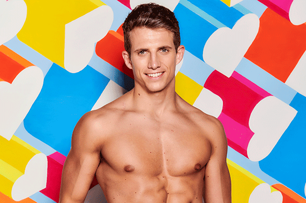 Callum in Love Island, ITV EMBARGOED