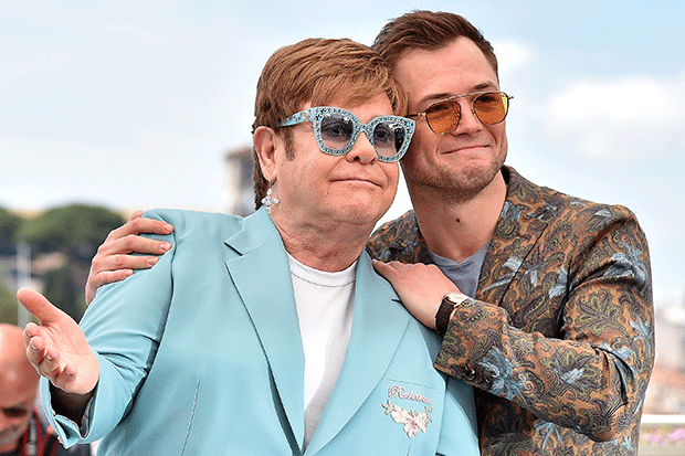 Elton John and Taron Egerton in Cannes, Getty