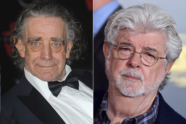 Peter Mayhew and George Lucas, Getty