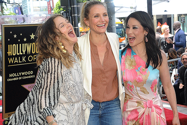 Drew Barrymore, Cameron Diaz and Lucy Liu, Getty