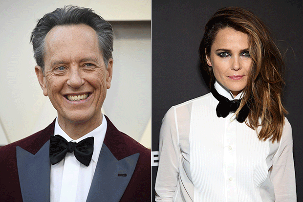 Richard E Grant and Keri Russell, Getty