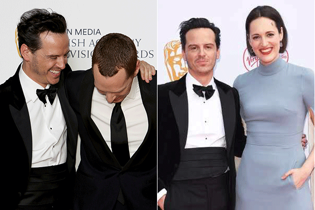 Andrew Scott, Benedict Cumberbatch and Phoebe Waller-Bridge, Getty