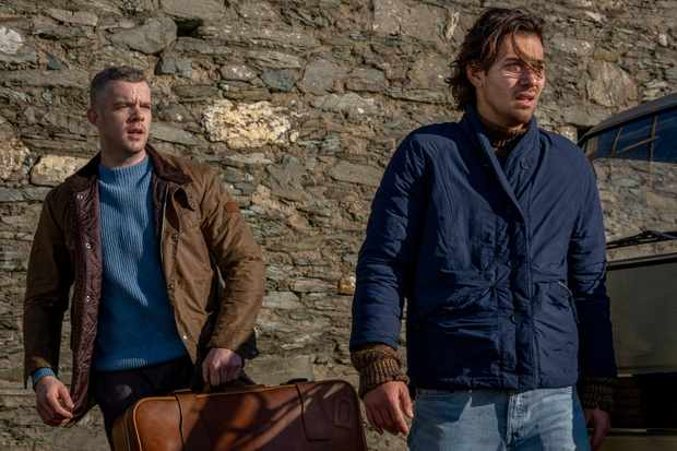 WARNING: Embargoed for publication until 00:00:01 on 28/05/2019 - Programme Name: Years and Years - TX: n/a - Episode: Years and Years episode 4 (No. n/a) - Picture Shows:  Daniel (RUSSELL TOVEY), Viktor (MAXIM BALDRY) - (C) Red Productions - Photographer: Matt Squire