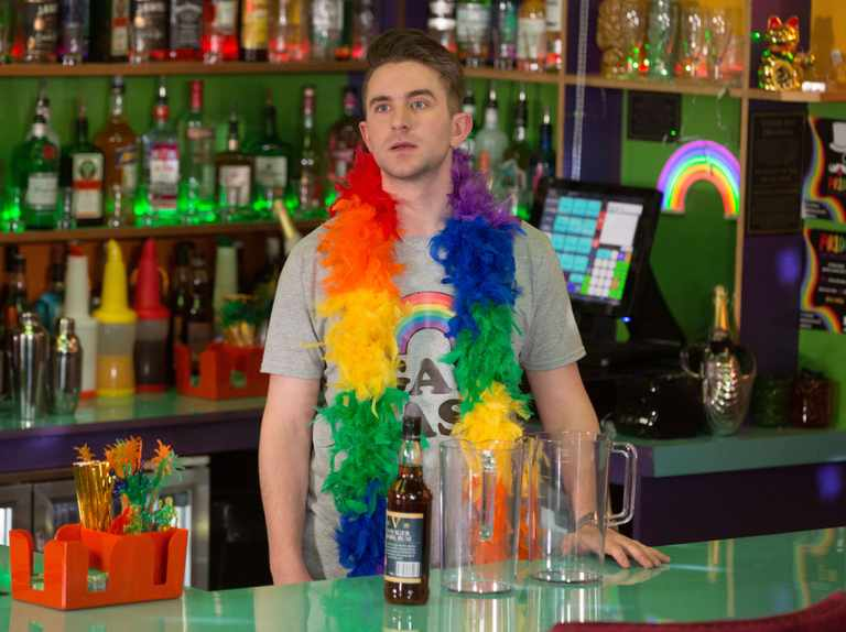 Callum and Ben caught kissing at EastEnders' Pride event