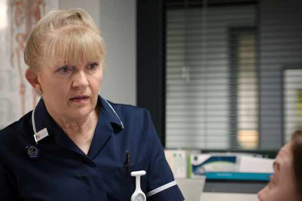 WARNING: Embargoed for publication until 00:00:01 on 18/06/2019 - Programme Name: Casualty - Series 33 - TX: 22/06/2019 - Episode: Casualty - Series 33 - Ep40 (No. 40) - Picture Shows:  Lisa Duffin (CATHY SHIPTON) - (C) BBC - Photographer: n/a