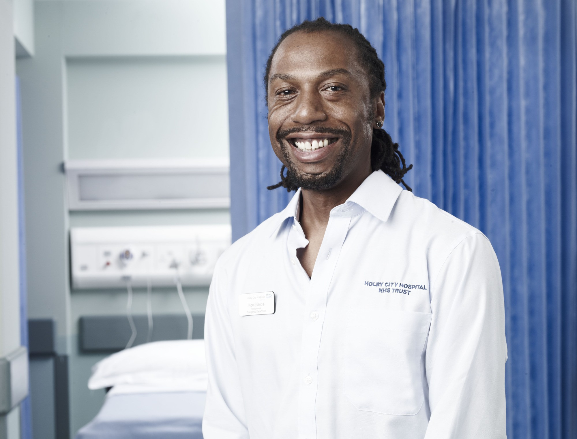 WARNING: Embargoed for publication until 15:18:31 on 03/01/2012 - Programme Name: Casualty - Portraits - TX: n/a - Episode: Casualty - Portraits (No. n/a) - Picture Shows: Noel Garcia (TONY MARSHALL) - (C) BBC - Photographer: Phil Fisk