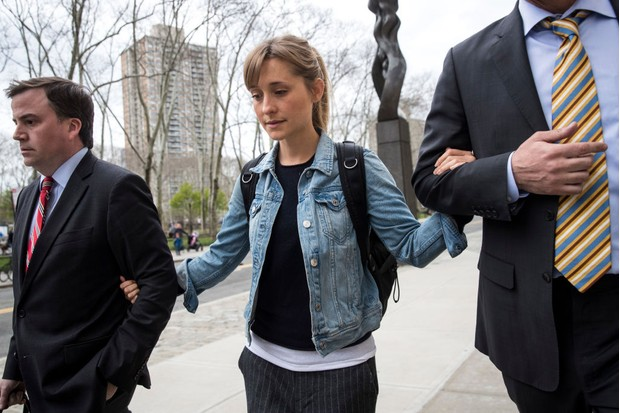 Actress Allison Mack appears in court (Getty)