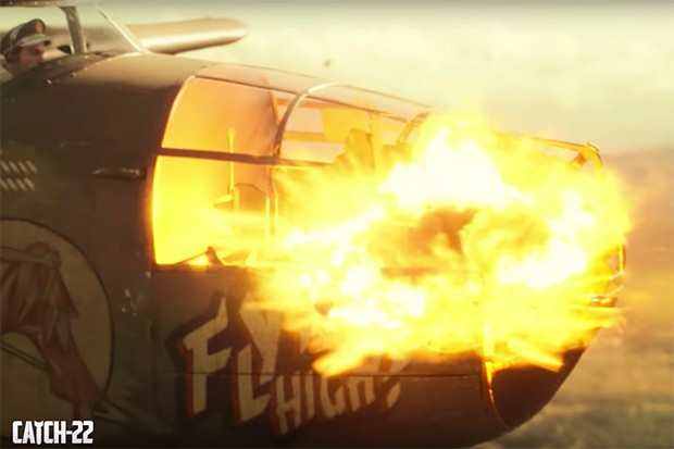 Catch-22 episode 1 plane explosion