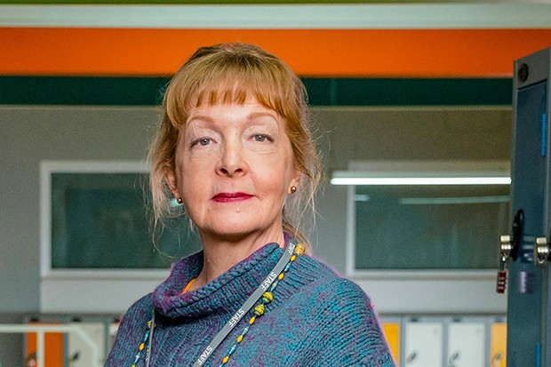 Charlie Hardwick plays Sue Carp in Ackley Bridge