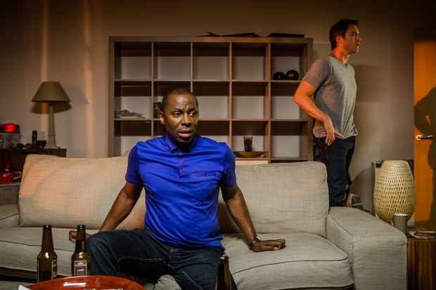 Cyril Nri as Lance and James Murray as Daniel