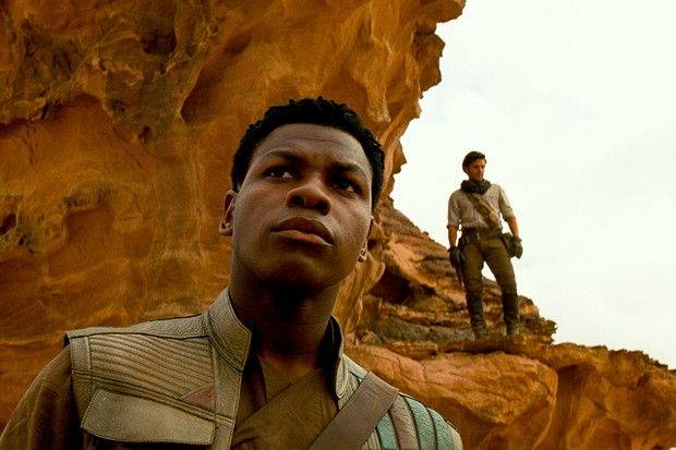 Finn (John Boyega) and Poe Dameron (Oscar Isaac) in STAR WARS:  THE RISE OF SKYWALKER.
