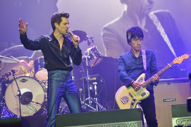 Brandon Flowers of The Killers and Johnny Marr