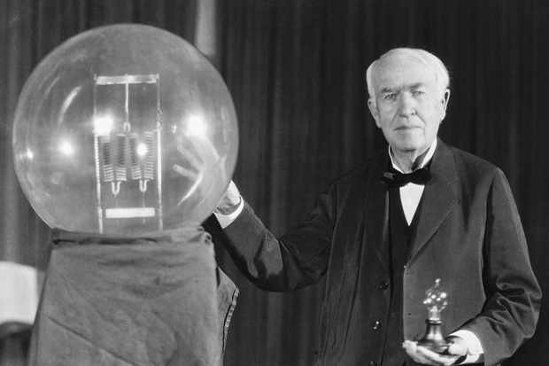 Thomas Edison exhibits first successful incandescent lamp