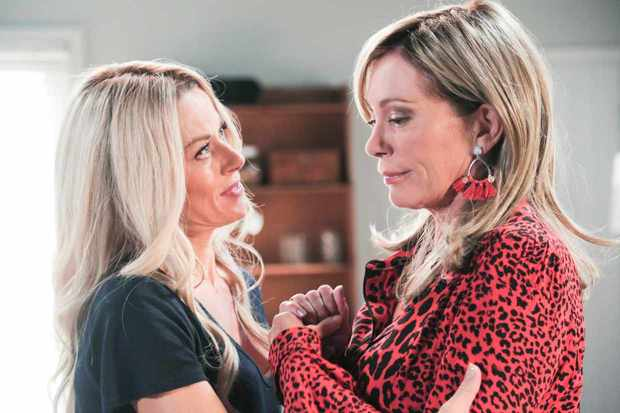 Andrea (Madeleine West) discovers Heather (Kerry Armstrong) is back!