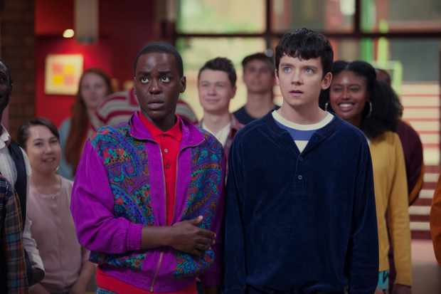 Ncuti Gatwa and Asa Butterfield, Sex Education