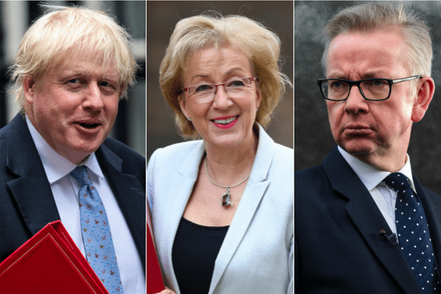 Boris Johnson, Andrea Leadsom, Michael Gove