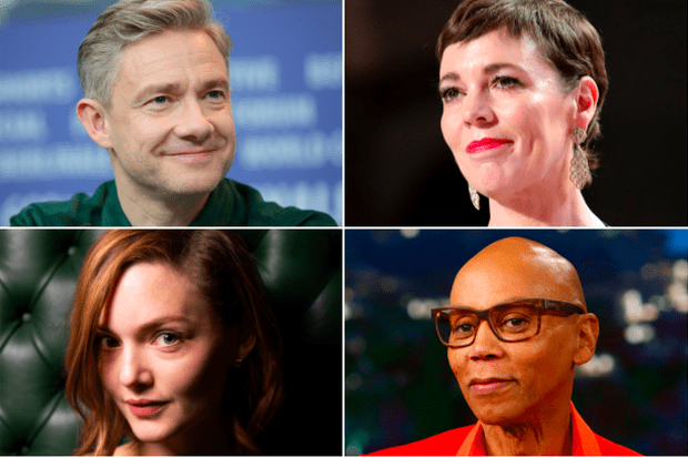 Martin Freeman, Olivia Colman, Holliday Grainger, RuPaul