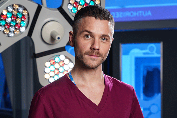 Dominic Copeland in Holby City, BBC Pictures