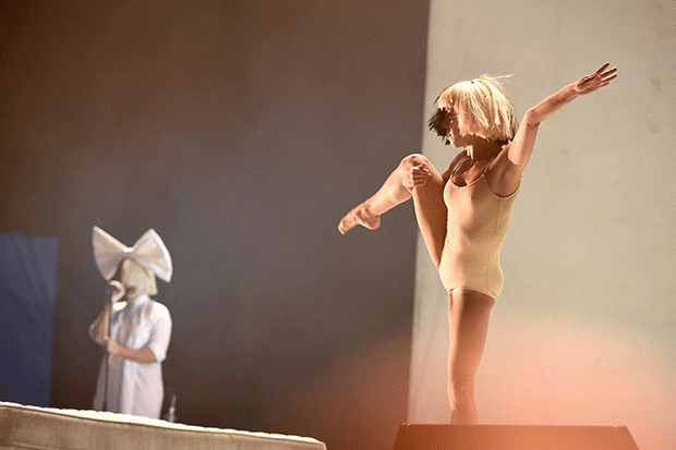 Maddie Ziegler (R) with Sia, Getty
