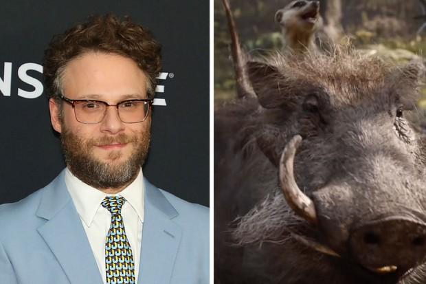 Seth Rogan plays Pumbaa
