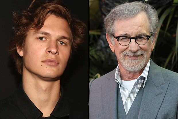 Ansel Elgort and Steven Spilberg West Side Story, Getty
