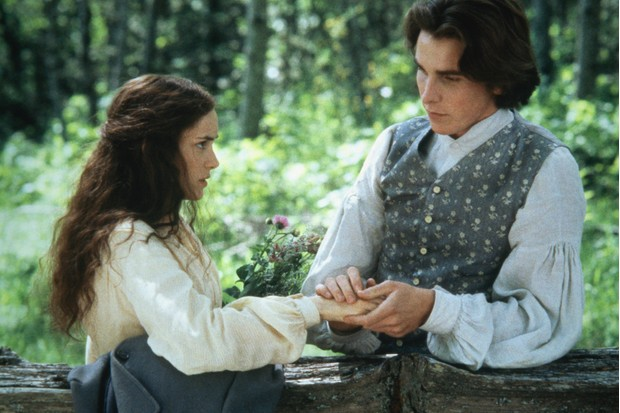 Winona Ryder as Jo March and Christian Bale as Laurie in Little Women, 1994